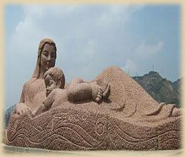黄河母親彫刻